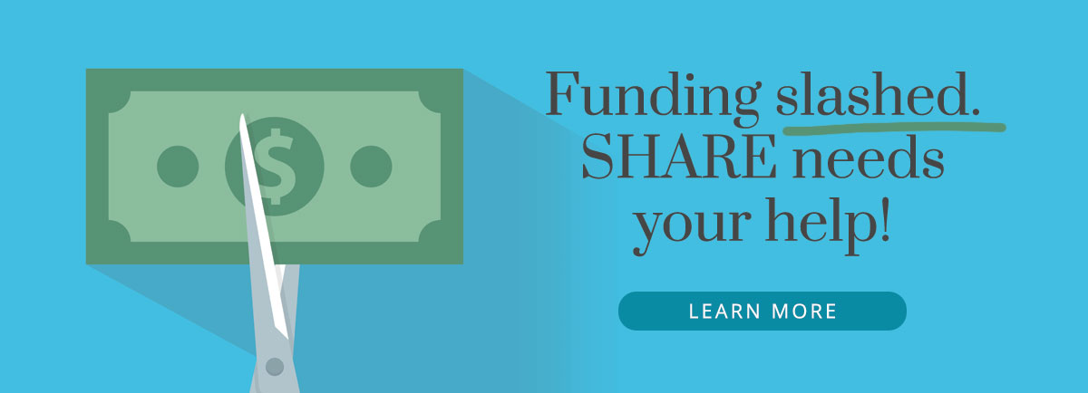 Share Funding Slashed
